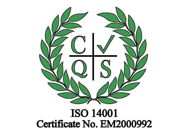 Awarded ISO 14001:2015 Environmental Management Systems
